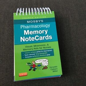 Pharmacology memory notecards